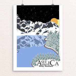 "Rocky Mountains by Cody Paresa 18"" by 24"" Print / Unframed Print See America"