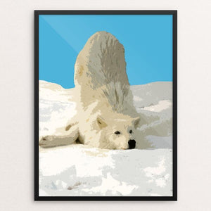 "Rolling in the Snow by Anthony Chiffolo 18"" by 24"" Print / Framed Print Join the Pack"