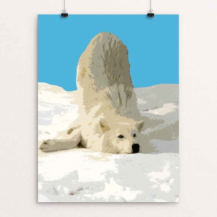 "Rolling in the Snow by Anthony Chiffolo 18"" by 24"" Print / Unframed Print Join the Pack"