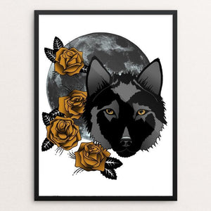 "Rosewolf by Joanna Stiehl 12"" by 16"" Print / Framed Print Join the Pack"