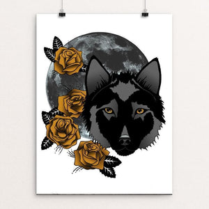 "Rosewolf by Joanna Stiehl 12"" by 16"" Print / Unframed Print Join the Pack"
