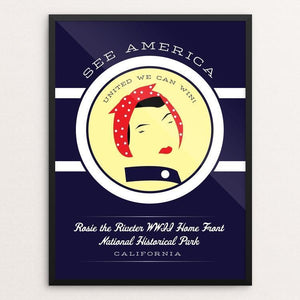 "Rosie the Riveter WWII Home Front National Historical Park by Brandon Kish 12"" by 16"" Print / Framed Print See America"