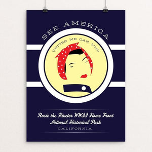 "Rosie the Riveter WWII Home Front National Historical Park by Brandon Kish 12"" by 16"" Print / Unframed Print See America"