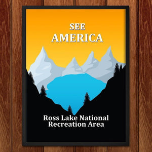 "Ross Lake National Recreation Area by Ranjit 12"" by 16"" Print / Framed Print See America"