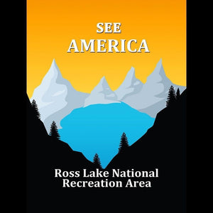 "Ross Lake National Recreation Area by Ranjit 12"" by 16"" Print / Unframed Print See America"