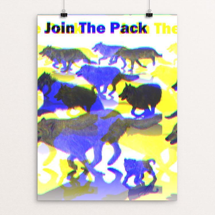 "Running with the Pack by Lyla Paakkanen 12"" by 16"" Print / Unframed Print Join the Pack"