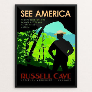 "Russell Cave National Monument by Robert Proctor 12"" by 16"" Print / Framed Print See America"