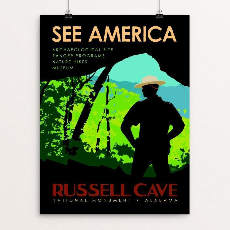 "Russell Cave National Monument by Robert Proctor 12"" by 16"" Print / Unframed Print See America"