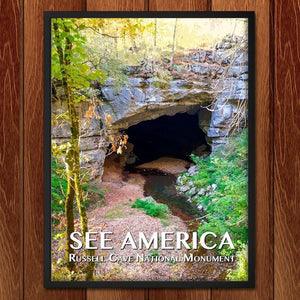 "Russell Cave National Monument by Zack Frank 12"" by 16"" Print / Framed Print See America"