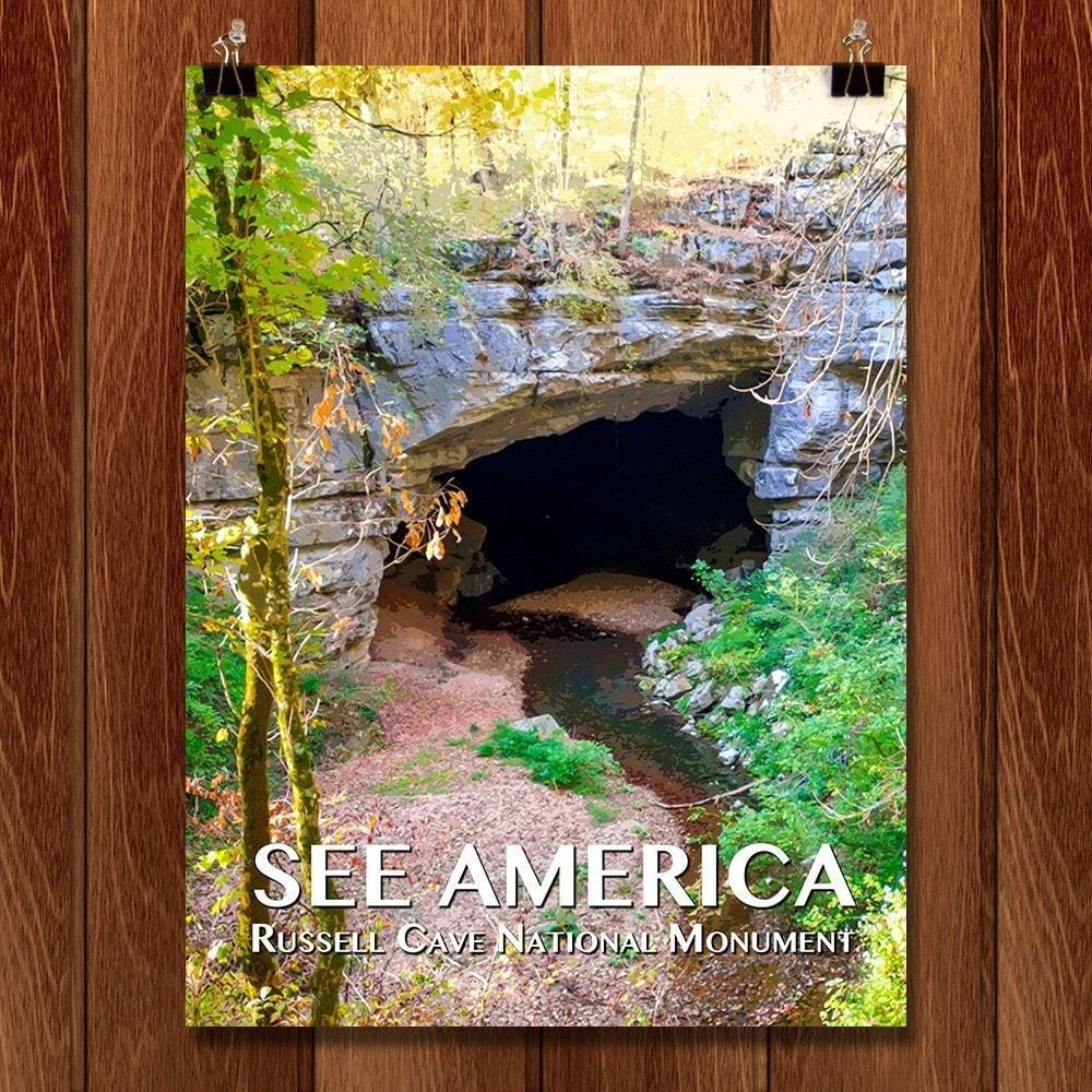"Russell Cave National Monument by Zack Frank 12"" by 16"" Print / Unframed Print See America"