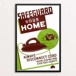"Safeguard Your Home by Al Gladstone 12"" by 18"" Print / Framed Print WPA Federal Art Project"