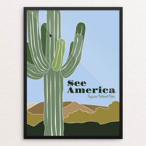 "Saguaro National Park 2 by Jessica Gerlach 12"" by 16"" Print / Framed Print See America"