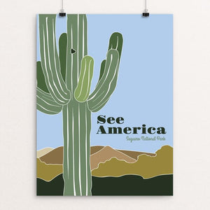 "Saguaro National Park 2 by Jessica Gerlach 12"" by 16"" Print / Unframed Print See America"