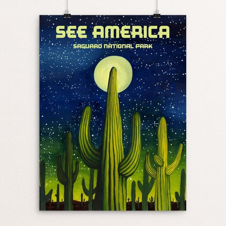 "Saguaro National Park by Emma Eaton 12"" by 16"" Print / Unframed Print See America"