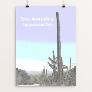 "Saguaro National Park by Jennie Lambert 12"" by 16"" Print / Unframed Print See America"