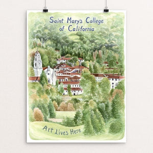 "Saint Mary's College of California by Elizabeth Kennen 12"" by 16"" Print / Unframed Print Art Lives Here"