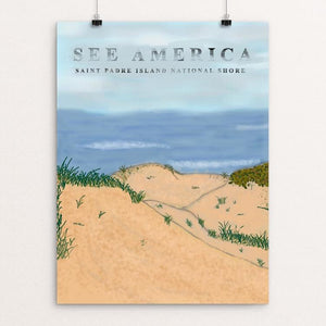 "Saint Padre Island National Shore by Alexandra Hornsby 12"" by 16"" Print / Unframed Print See America"