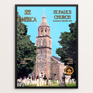 "Saint Paul's Church National Historic Site by John Lincoln Hallowell 12"" by 16"" Print / Framed Print See America"