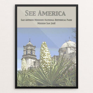 "San Antonio Missions National Historical Park by Jennie Lambert 12"" by 16"" Print / Framed Print See America"