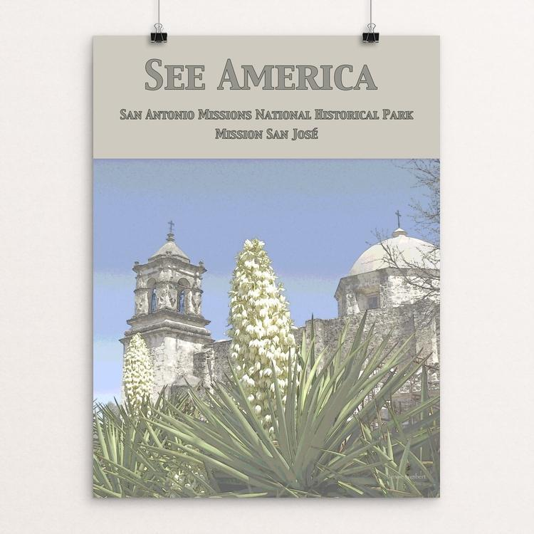 "San Antonio Missions National Historical Park by Jennie Lambert 12"" by 16"" Print / Unframed Print See America"