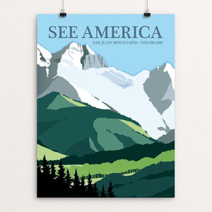 "San Juan Mountains, Rocky Mountains by Jonathan Scheele 12"" by 16"" Print / Unframed Print See America"