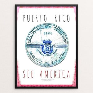 "San Juan Puerto Rico National Historic Site by Ginnie McKnight 12"" by 16"" Print / Framed Print See America"