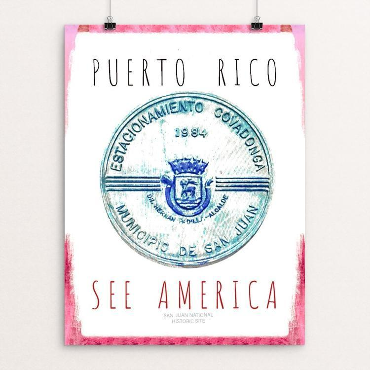 "San Juan Puerto Rico National Historic Site by Ginnie McKnight 12"" by 16"" Print / Unframed Print See America"