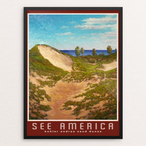 "Sand Dunes, Kohler-Andrae State Park by Dale Knaak 12"" by 16"" Print / Framed Print See America"