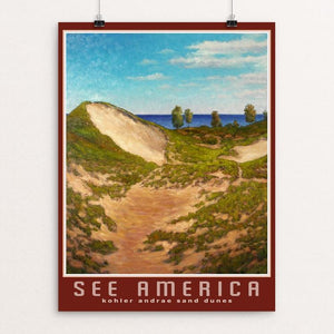 "Sand Dunes, Kohler-Andrae State Park by Dale Knaak 12"" by 16"" Print / Unframed Print See America"