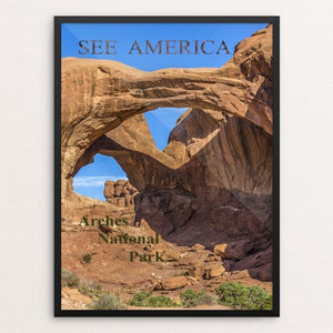 "Sandstone formations at Arches NP, Utah by Michael Burke 12"" by 16"" Print / Framed Print See America"