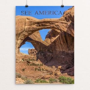 "Sandstone formations at Arches NP, Utah by Michael Burke 12"" by 16"" Print / Unframed Print See America"