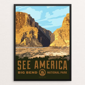 "Santa Elena Canyon, Big Bend National Park by Aaron Bates 12"" by 16"" Print / Framed Print See America"