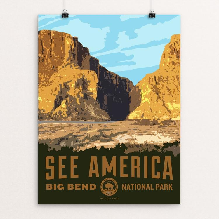 "Santa Elena Canyon, Big Bend National Park by Aaron Bates 12"" by 16"" Print / Unframed Print See America"