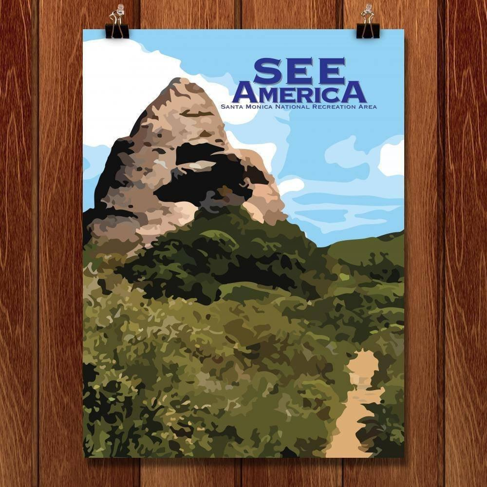 "Santa Monica Mountains National Recreation Area by Brendan A. Caruso 18"" by 24"" Print / Unframed Print See America"