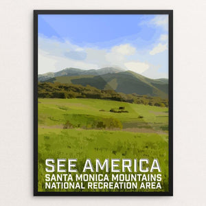 "Santa Monica Mountains National Recreation Area by Daniel Gross 12"" by 16"" Print / Framed Print See America"