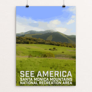 "Santa Monica Mountains National Recreation Area by Daniel Gross 12"" by 16"" Print / Unframed Print See America"