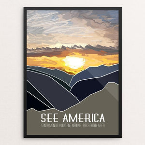 "Santa Monica Mountains National Recreation Area by Gopi Shah 12"" by 16"" Print / Framed Print See America"