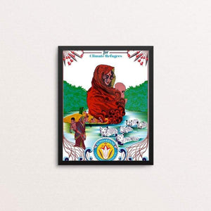 "Save Climate Refugees by Aditi Raychoudhury 8"" by 10"" Print / Framed Print Green New Deal"