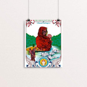 "Save Climate Refugees by Aditi Raychoudhury 8"" by 10"" Print / Unframed Print Green New Deal"