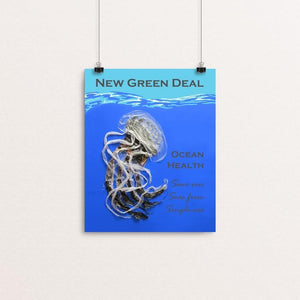 "Save our Seas from Single-use by Candy Medusa 8"" by 10"" Print / Unframed Print Green New Deal"