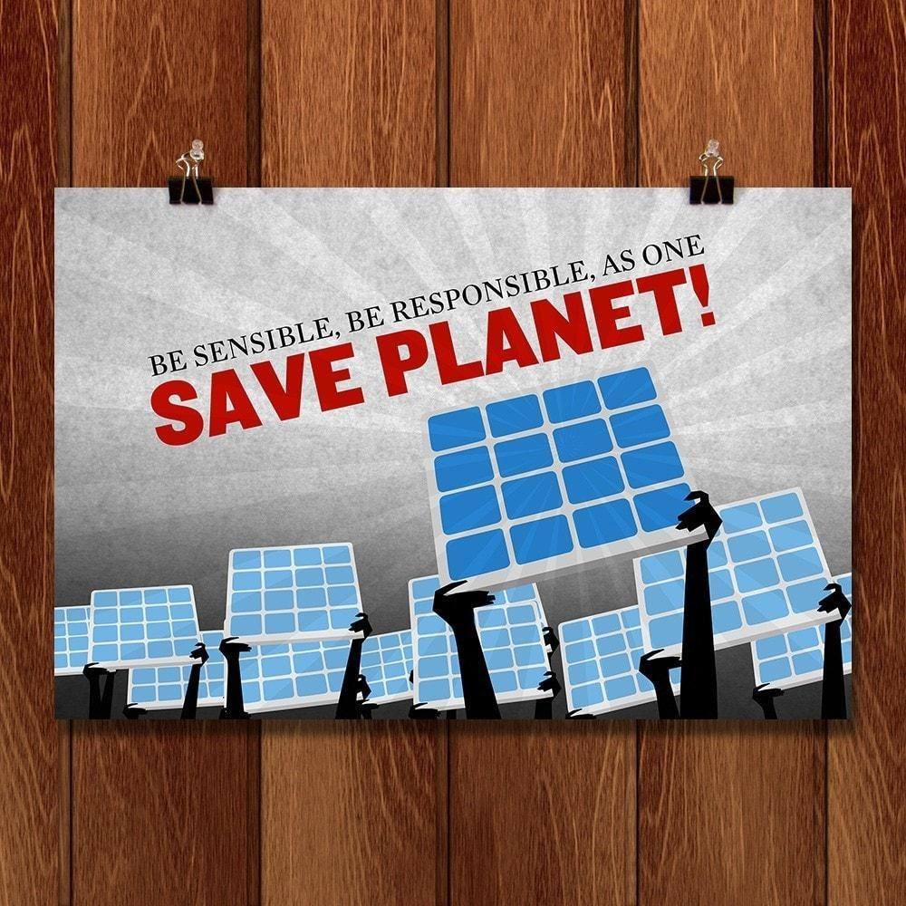 "Save Planet! by Vikram Nongmaithem 18"" by 12"" Print / Unframed Print Climate Victory"