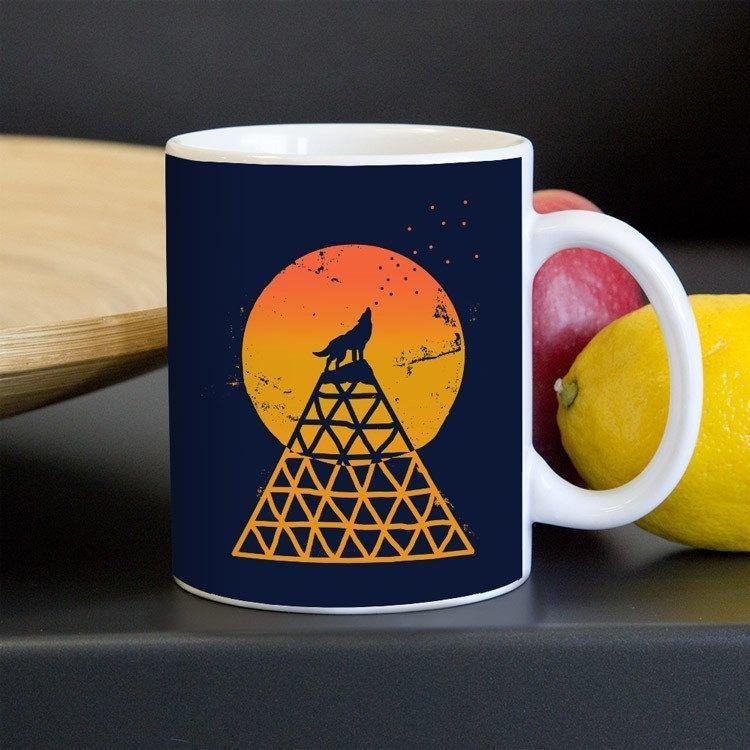 Save the Wolves by Emily Kelley 11oz Mug Join the Pack