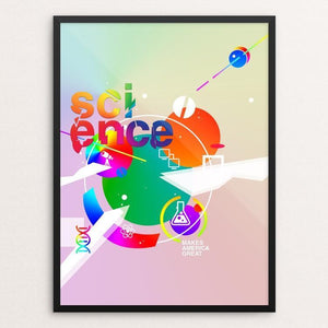 "Science Makes America Great by Natalie Rogers 12"" by 16"" Print / Framed Print What Makes America Great"