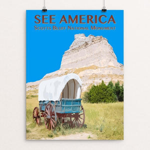 "Scotts Bluff National Monument by Zack Frank 12"" by 16"" Print / Unframed Print See America"