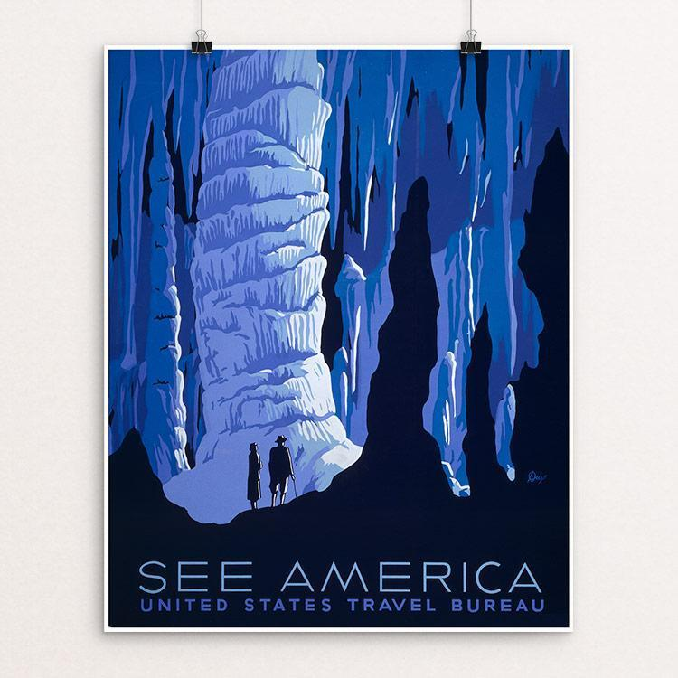 "See America by Alexander Dux Unframed / 16"" by 20"" Print WPA Federal Art Project"