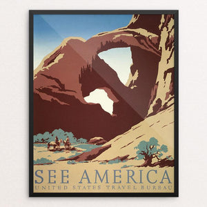 "See America by Frank S. Nicholson Framed / 16"" by 20"" Print WPA Federal Art Project"