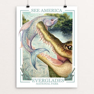 "See America - Everglades National Park by Skylar Francis 12"" by 16"" Print / Unframed Print See America"