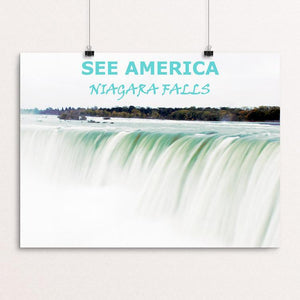 "See America: Niagara Falls by Lysa DuCharme 12"" by 16"" Print / Unframed Print Creative Action Network"