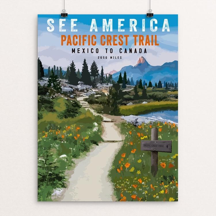 "SEE AMERICA - Pacific Crest Trail by Brooke Fischer 18"" by 24"" Print / Unframed Print See America"