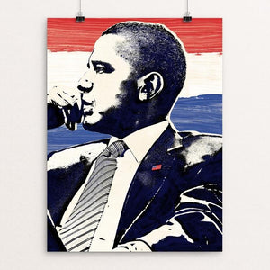 "Seize the Moment by Mark Forton 12"" by 16"" Print / Unframed Print Design for Obama"